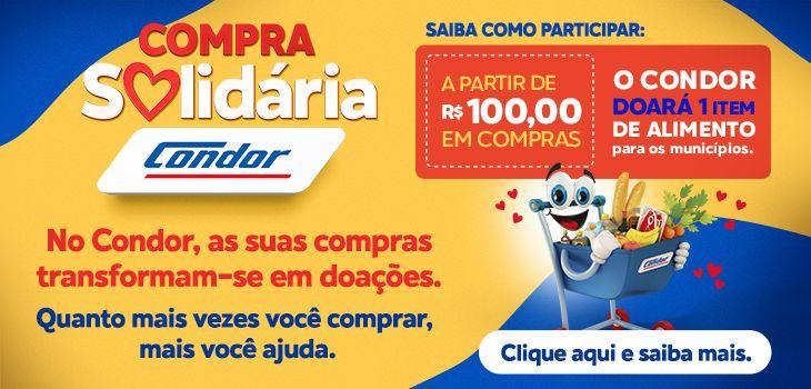 Condor vai ajudar 163 mil famílias do Paraná e Santa Catarina